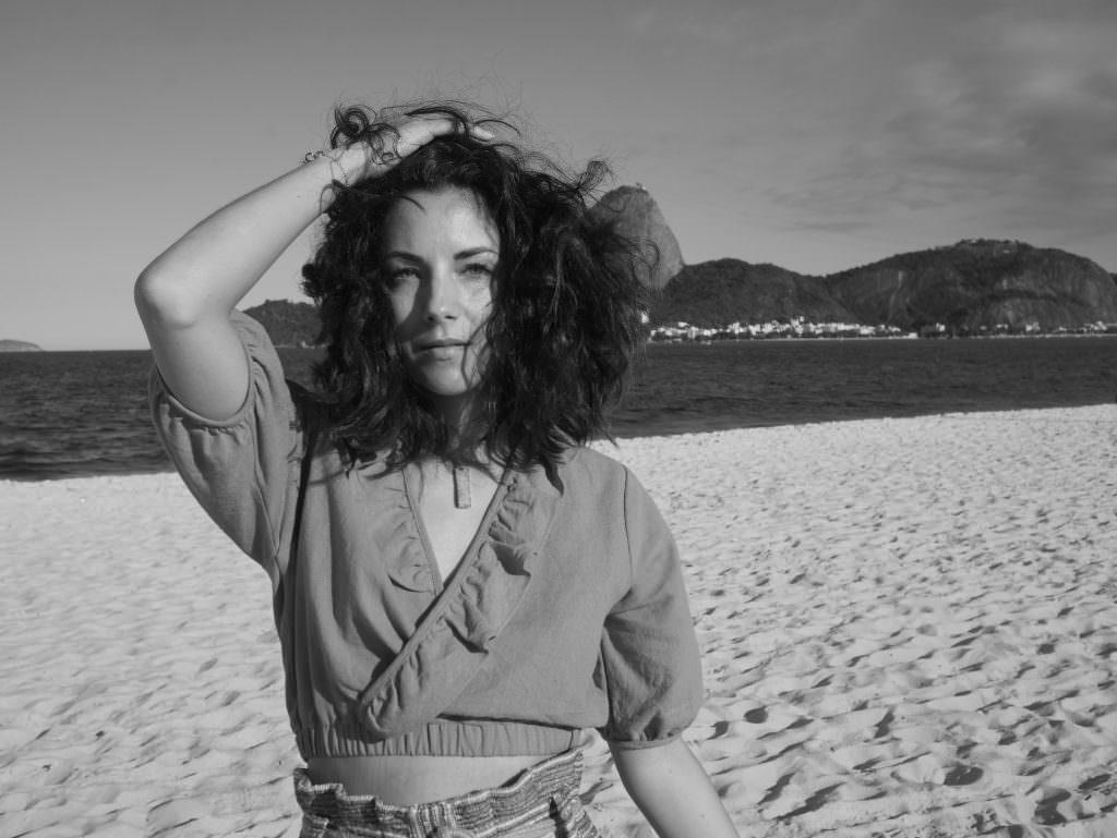 Flamengo beach rio de janeiro black and white brazil