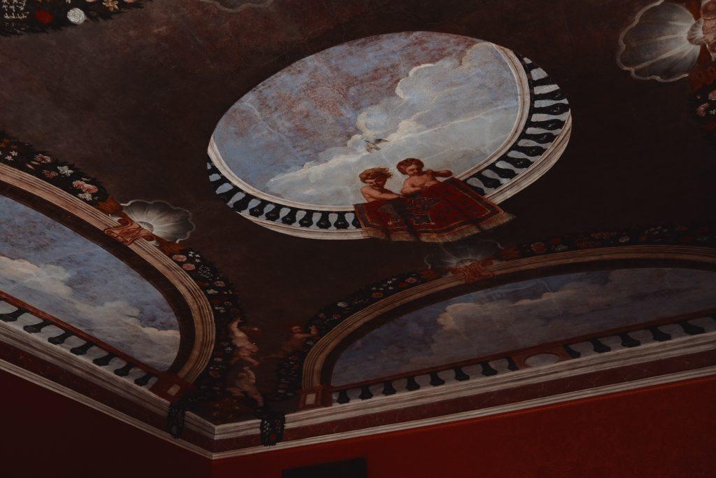 Chateau Waldegg plafond peintures