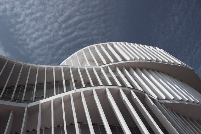 Architecture moderne de la ville de Strasbourg